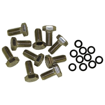 SET OF 10 STAINLESS STEEL SCREWS M8x16 A316L