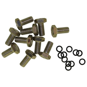 SET OF 10 STAINLESS STEEL SCREWS M10x18 A316L